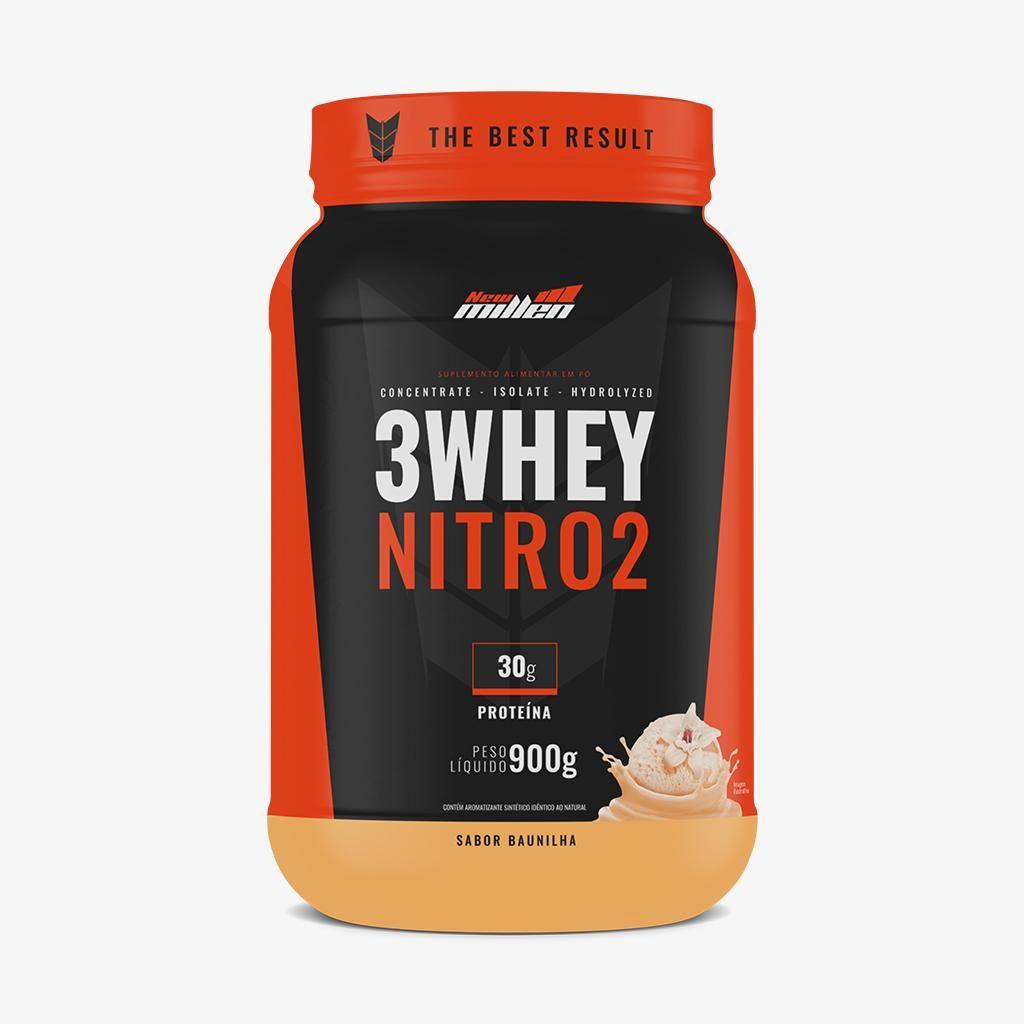 3 WHEY NITRO2 - 900G - NEW MILLEN na Nutri Fast Shop