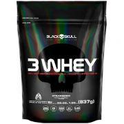 3 WHEY PROTEIN - REFIL - 837g - BLACK SKULL