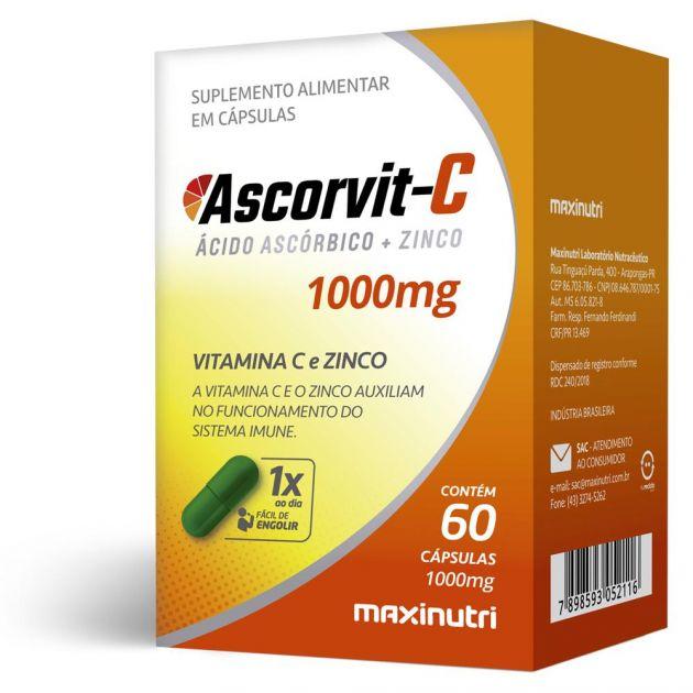 ASCORVIT-C + ZINCO - 60 CAPS - MAXINUTRI