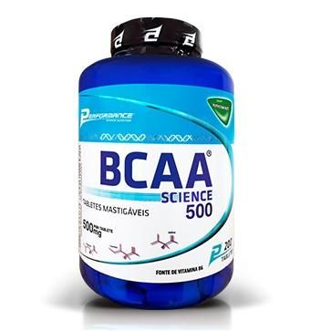 BCAA SCIENCE 500 - 200 TABS MASTIGÁVEIS - PERFORMANCE NUTRITION