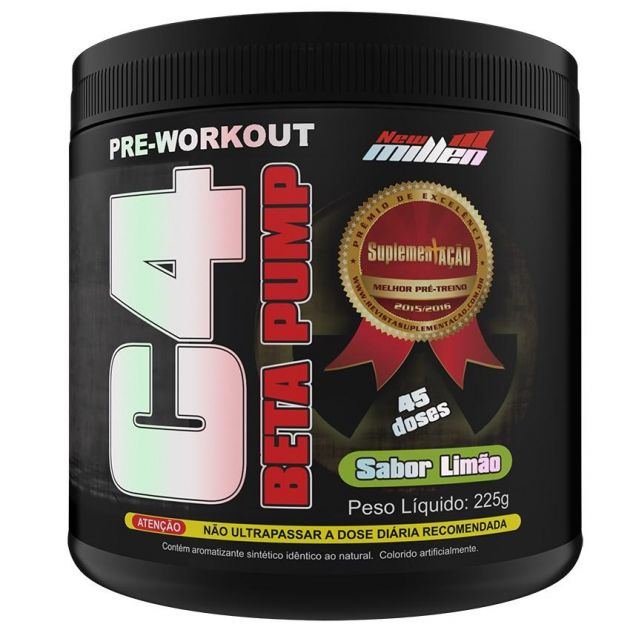 C4 BETA PUMP PRE-WORKOUT - 225G - NEW MILLEN