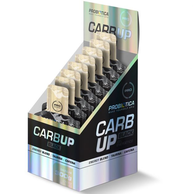 CARB UP GEL BLACK - 10 SACHÊS - PROBIÓTICA