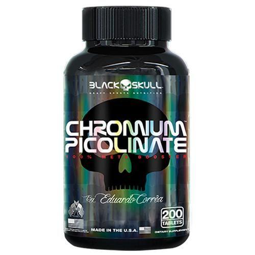 CHROMIUM PICOLINATE - 200 TABS - BLACK SKULL