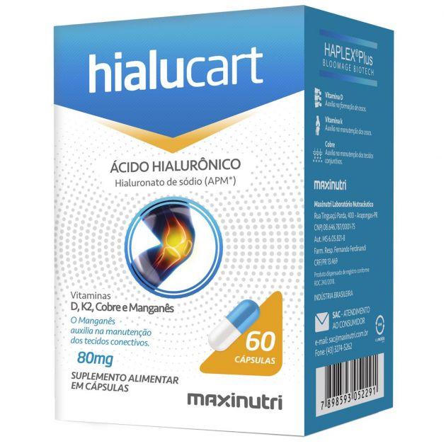 HIALUCART ÁCIDO HIALURÔNICO - 60 CAPS - MAXINUTRI