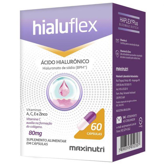 HIALUFLEX ÁCIDO HIALURÔNICO - 60 CAPS - MAXINUTRI