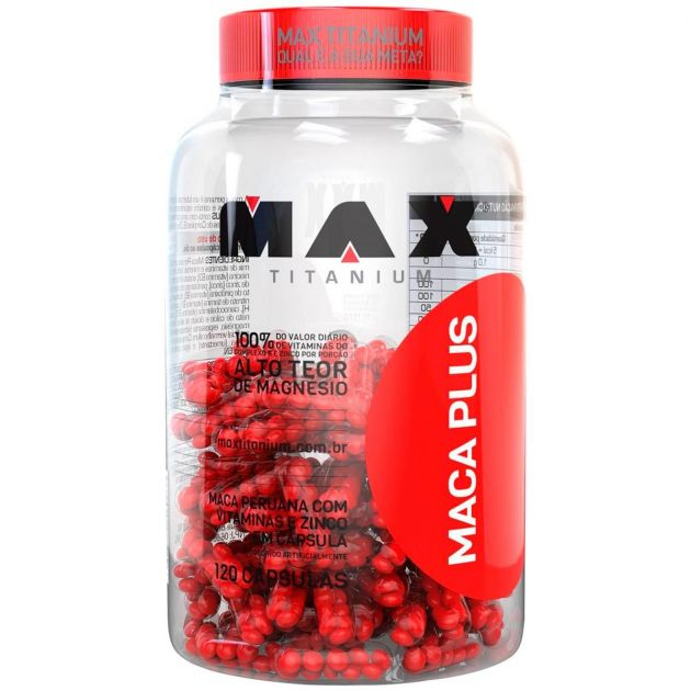 MACA PLUS - 120 CAPS - MAX TITANIUM