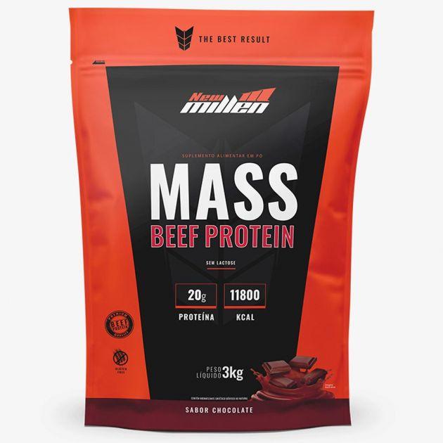 MASS BEEF PROTEIN - REFIL - 3000g - NEW MILLEN