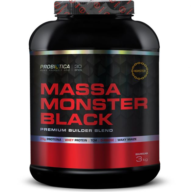 MASSA MONSTER BLACK - 3000g - PROBIÓTICA