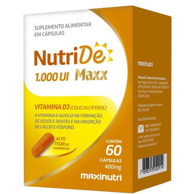 NUTRIDE 1000ui - 60 CAPS - MAXINUTRI