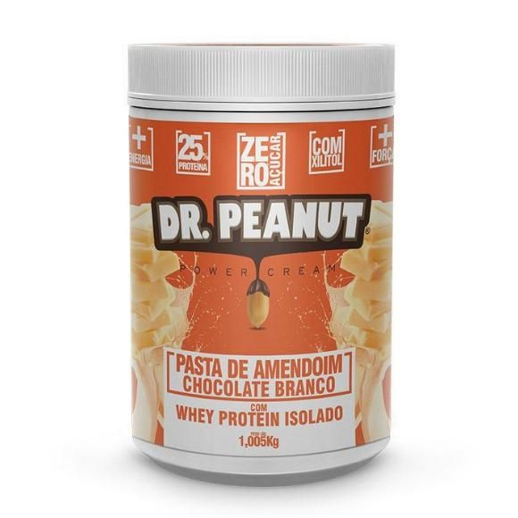 PASTA DE AMENDOIM CHOCOLATE BRANCO - 1005g - DR PEANUT