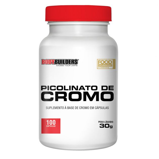 PICOLINATO DE CROMO - 100 CAPS - BODY BUILDERS