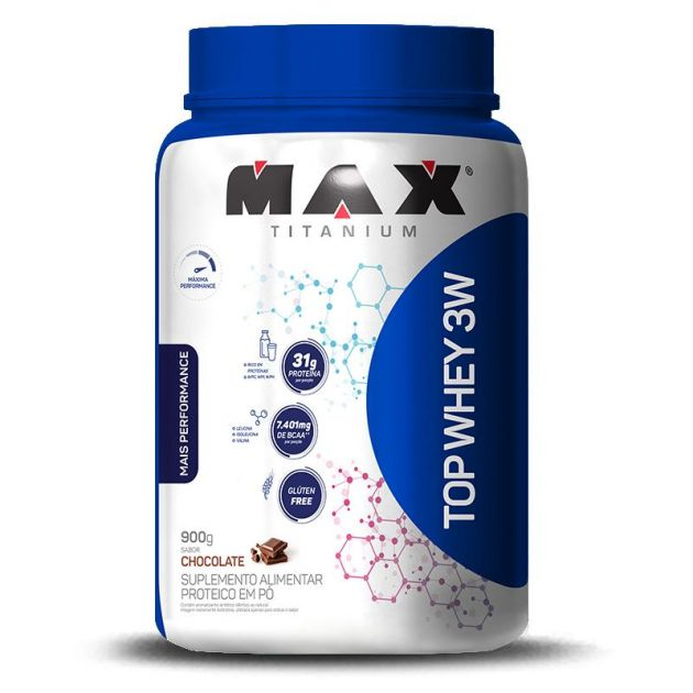 TOP WHEY 3W + PERFORMANCE - 900g - MAX TITANIUM